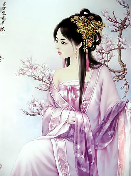 书亦飞古典手绘美女