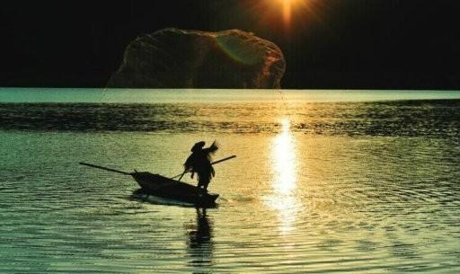 渔翁撒网图 - 52shici.com