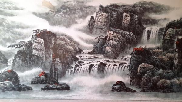 《原创七绝》题图.山水画 - 诗童墨娃 - 诗童墨娃的博客